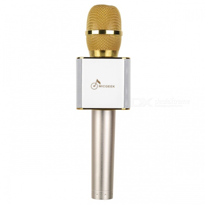 Buy Q9 Wireless Bluetooth Mobile Phone / Karaoke Microphone - Gold with Litecoins with Free Shipping on Gipsybee.com