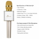 Q9 Wireless Bluetooth Mobile Phone / Karaoke Microphone - Gold