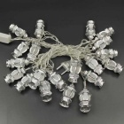 16ft LED Colorful 20LED w/ Silver Palace Lantern Twinkle Lights String