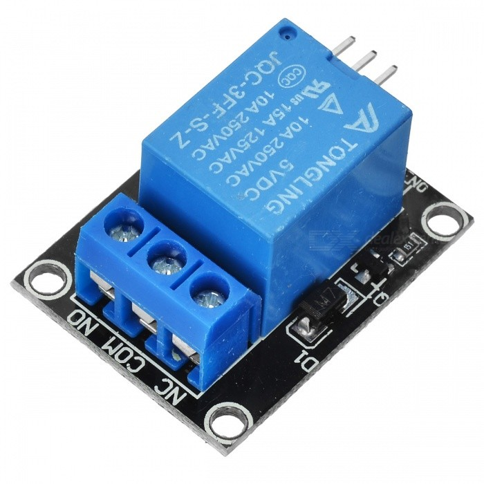 5V Relay Module for Arduino - Blue for sale in Bitcoin, Litecoin, Ethereum, Bitcoin Cash with the best price and Free Shipping on Gipsybee.com