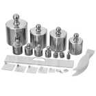 Physical 500g Combination 45# Steel Weight Set - Silver