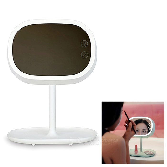 Buy Multifunctional Rechargeable Make-up Mirror / LED Table Light - White with Litecoins with Free Shipping on Gipsybee.com