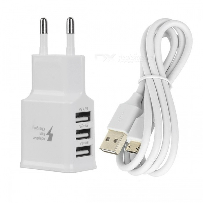 Buy USB 5V 3.0A Quick Charger + Dual Side Plug Micro USB Data Cable with Litecoins with Free Shipping on Gipsybee.com