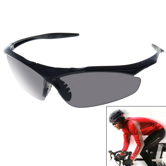 Unisex Sport Half-frame Outdoor Cycling Explosion-proof SunglassesSunglasses<br>Frame ColorBlackLens ColorBlackQuantity1 DX.PCM.Model.AttributeModel.UnitShade Of ColorGrayFrame MaterialPlasticLens MaterialPCProtectionUV400GenderUnisexSuitable forAdultsFrame Height4 DX.PCM.Model.AttributeModel.UnitLens Width7.5 DX.PCM.Model.AttributeModel.UnitBridge Width1.9 DX.PCM.Model.AttributeModel.UnitOverall Width of Frame14.5 DX.PCM.Model.AttributeModel.UnitPacking List1*Sunglasses<br>