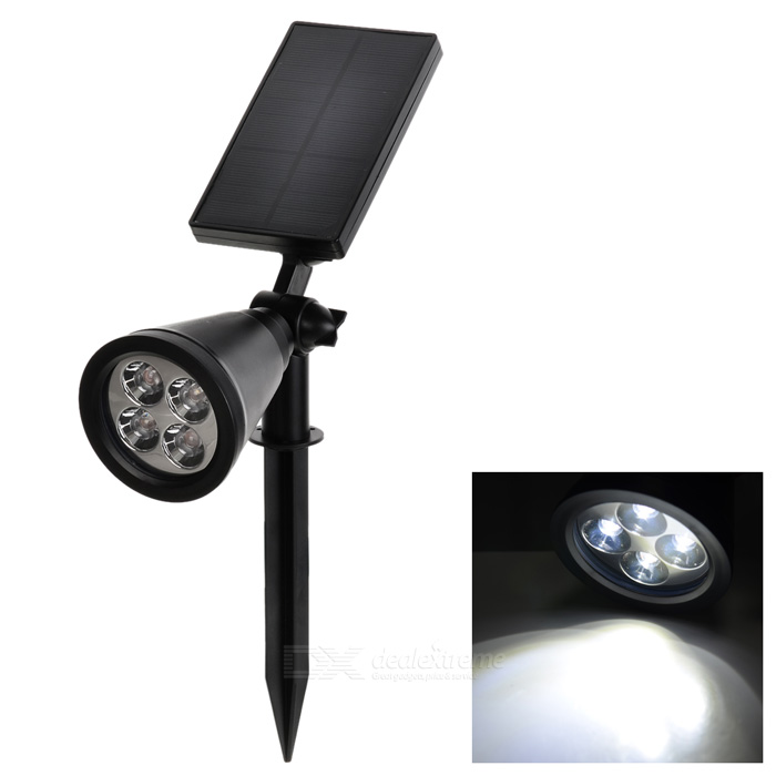Solar Powered Waterproof 2W 180lm LED Garden Yard Lawn LampSolar Lamps<br>Form  ColorBlackMaterialABS + PSQuantity1 DX.PCM.Model.AttributeModel.UnitWaterproof LevelIP65Emitter TypeLEDPower4*0.5 DX.PCM.Model.AttributeModel.UnitWorking Voltage   3.7 DX.PCM.Model.AttributeModel.UnitBattery Charging Time4-5Working Time6-9 DX.PCM.Model.AttributeModel.UnitPacking List1 * Solar light1 * Plastic taper1 * English manual 3 * Screw3 * Screw sleeves<br>