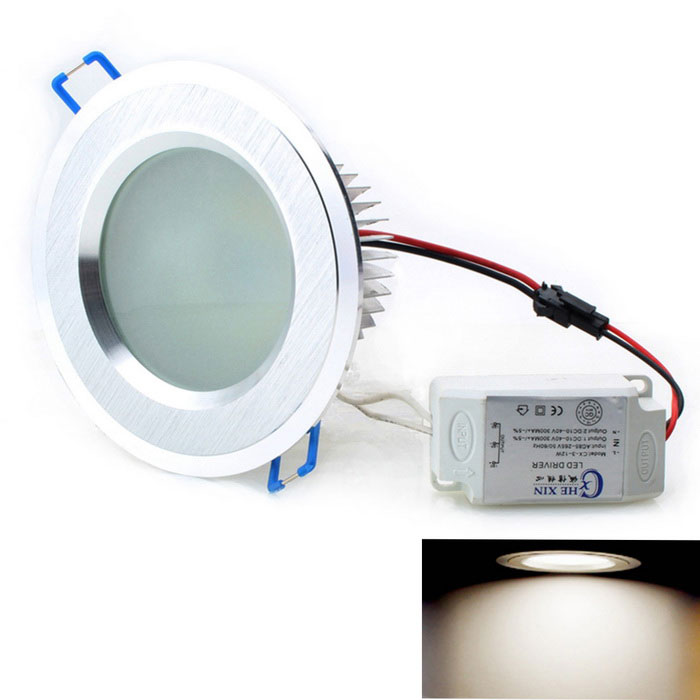 CXHEXIN 12W 24-5630 SMD LED 900lm 3000K Warm White Ceiling LightCeiling Light<br>Form  ColorBrushed Silver (12W)Color BINWarm WhiteModelCX12-SQuantity1 DX.PCM.Model.AttributeModel.UnitMaterialAluminium alloyPower12WRated VoltageAC 85-265 DX.PCM.Model.AttributeModel.UnitChip BrandOthers,SamsungChip Type5630Emitter TypeLEDTotal Emitters24Theoretical Lumens1200 DX.PCM.Model.AttributeModel.UnitActual Lumens900 DX.PCM.Model.AttributeModel.UnitColor Temperature3000KDimmableNoBeam Angle180 DX.PCM.Model.AttributeModel.UnitExternal Diameter11 DX.PCM.Model.AttributeModel.UnitHole diameter9 DX.PCM.Model.AttributeModel.UnitHeight6 DX.PCM.Model.AttributeModel.UnitPacking List1 * Light bulb<br>