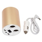 Dual USB Ports Car Charger Cup Holder Mount Cigarette Lighter Adapter