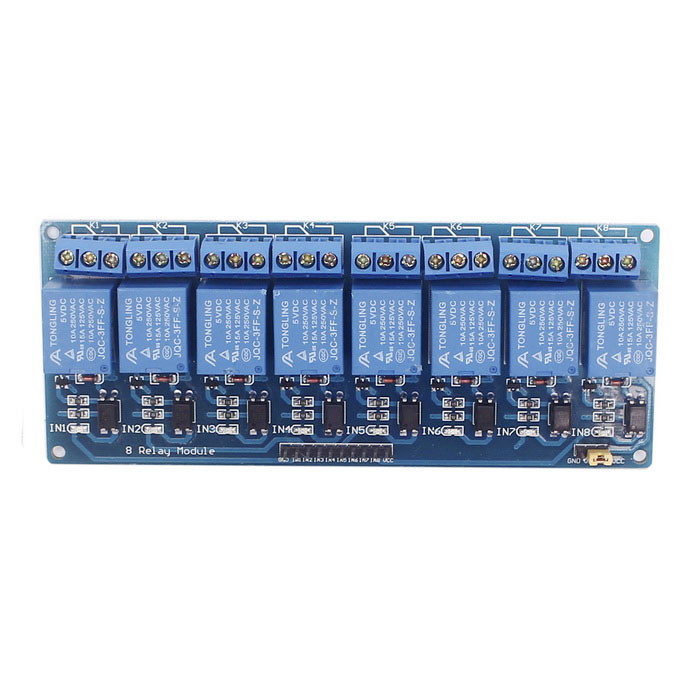 5V 8-Channel Relay Module with Optocoupler Isolation for sale in Bitcoin, Litecoin, Ethereum, Bitcoin Cash with the best price and Free Shipping on Gipsybee.com