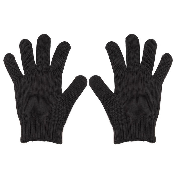 Cut Resistant Stainless Steel Wire Mesh Gloves - Black (Pair)Safety Gloves<br>Form  ColorBlackSizeFree SizeShade Of ColorBlackMaterialstainless steel wire + chemical fiberQuantity1 DX.PCM.Model.AttributeModel.UnitPalm Girth18 DX.PCM.Model.AttributeModel.UnitMidfinger Length10 DX.PCM.Model.AttributeModel.UnitGlove Length25 DX.PCM.Model.AttributeModel.UnitOther FeaturesSize: free size fit most person<br>Anti-cut level: 5<br>Wear level: 3<br>Anti-tearing level: 4Packing List1 * Pair of gloves<br>
