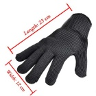 Cut Resistant Stainless Steel Wire Mesh Gloves - Black (Pair)