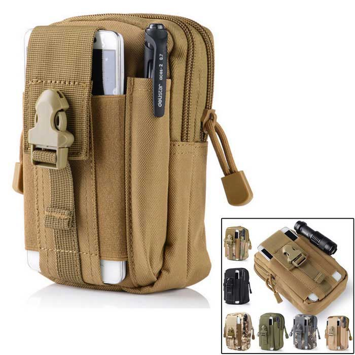 Buy KICCY Tactical Molle Bag Belt Waist Pack for Samsung, IPHONE - Khaki with Litecoins with Free Shipping on Gipsybee.com