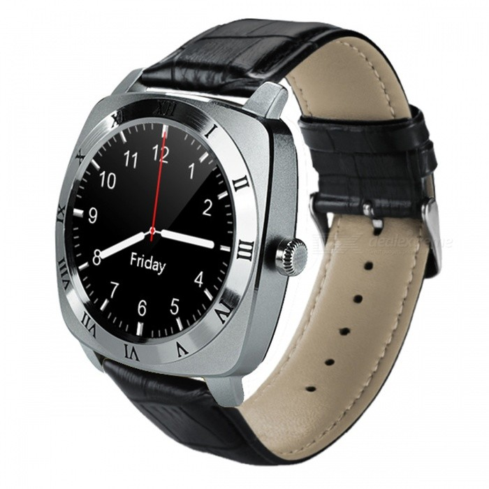 Bluetooth Smart Watch Phone Wearable Touch Screen Smart WatchSmart Watches<br>Form  ColorSilverModelSMART WATCHQuantity1 DX.PCM.Model.AttributeModel.UnitMaterialSiliconeShade Of ColorSilverCPU ProcessorMTK6261DScreen Size1.33 DX.PCM.Model.AttributeModel.UnitScreen Resolution240 * 240Touch Screen TypeYesNetwork Type2GCellularGSMSIM Card TypeMicro SIMBluetooth VersionBluetooth V3.0Compatible OSiOS(iOS) / Android(Android) / Mac OS(MAC OS) / IPhone(iPhone)LanguageEnglish / ChineseWristband Length225 DX.PCM.Model.AttributeModel.UnitWater-proofNoBattery ModeReplacementBattery TypeLi-ion batteryBattery Capacity350 DX.PCM.Model.AttributeModel.UnitStandby Time72 DX.PCM.Model.AttributeModel.UnitCertificationCE, RoHSPacking List1 * Smart watch1 * Cable (97cm)1 * Chinese / English user manual<br>