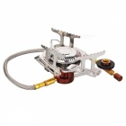 HALIN HK359 Outdoor Camping Picnic Cooking Gas Stove - Silver + Orange