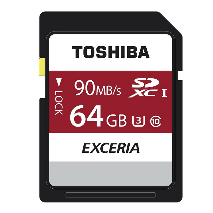 Toshiba Exceria 64GB SDHC 90MB/s UHS-I U3 Class 10 4K THN-N302R0640C4 for sale in Bitcoin, Litecoin, Ethereum, Bitcoin Cash with the best price and Free Shipping on Gipsybee.com