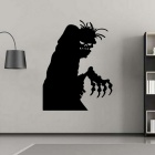 Removable DIY 3D Halloween Ghost Decorative Wall Sticker - Black