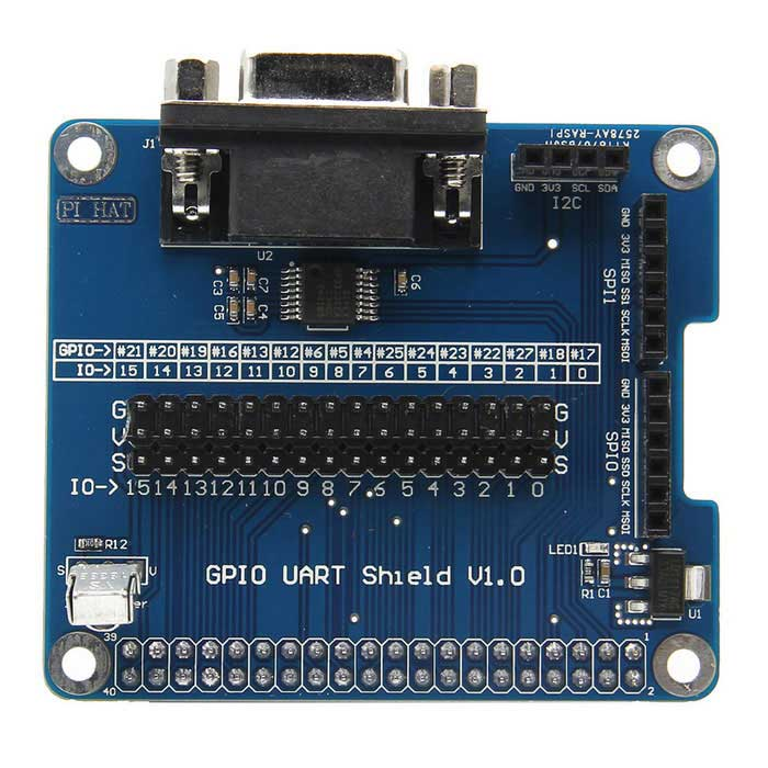 GPIO Serial Port Expansion Board RS232 for Raspberry Pi