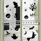 Desmontable DIY 3D Halloween etiqueta de la pared decorativa - Negro