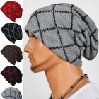 Fashion Outdoor Stripes Pattern Hip-Hop Style Knit Cap Hat - Grey