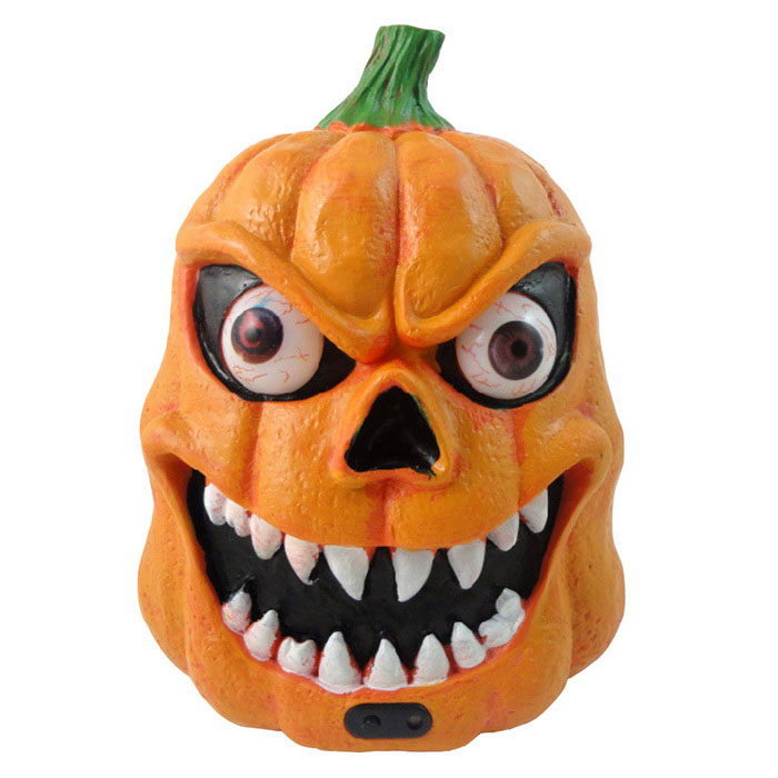 Halloween Pumpkin Haunted House Decorative Props Sound Activated LampLED Toys<br>Form  ColorOrangeMaterialABSQuantity1 DX.PCM.Model.AttributeModel.UnitShade Of ColorOrangeLED Quantity2LED ColorWhiteBattery ModelAAABattery Number3Packing List1 * Lamp (Batteries are not included)<br>
