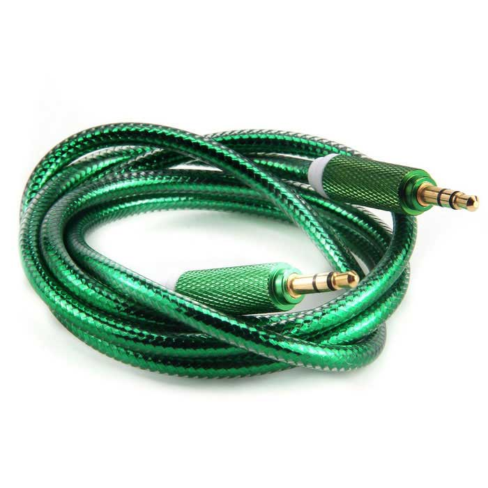 3.5mm Male to Male AUX Audio Connection Cable - Green (100cm)Audio And Video Cables<br>Form  ColorGreen + White + Multi-ColoredMaterialTPE + zinc alloy + copper platingQuantity1 DX.PCM.Model.AttributeModel.UnitShade Of ColorGreenCable Length100 DX.PCM.Model.AttributeModel.UnitConnector GenderMale to MaleConnector3.5mmPacking List1 * Cable (100±2cm)<br>