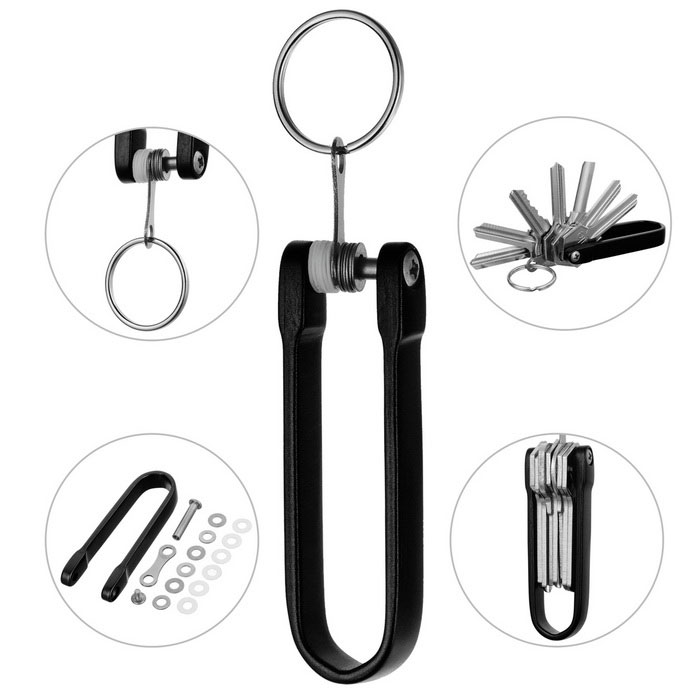 FURA HA-III Hard Oxidation Aluminum Alloy Key Holder Oragnizer - BlackKeychains<br>Form  ColorBlackMaterialAircraft-grade aluminum alloyQuantity1 DX.PCM.Model.AttributeModel.UnitPacking List1 * Key Holder Organizer6 * Stainless steel o rings6 * Wear-Resistant plastic o rings1 * Key ring (Diameter: 25mm)<br>