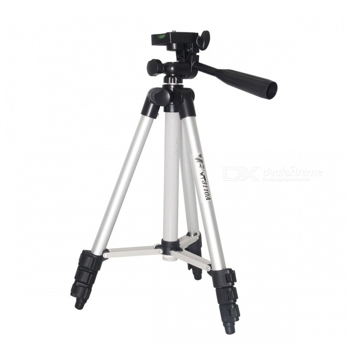 Buy WT-3110A Adjustable Digital Camera Cellphone Tripod Stand for DSLR with Litecoins with Free Shipping on Gipsybee.com