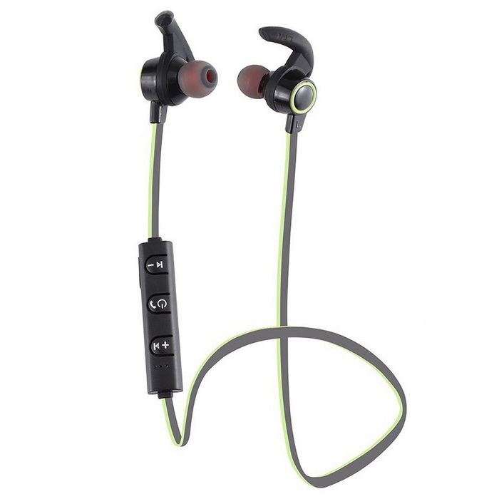AMW-810 Wireless Stereo Vodotěsné In-Ear sluchátka - Black + Green