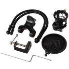 Desktop Universal Microphone w/ Phone Clip + Spray Gurad - Black
