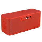 Stereo Sound Wireless Bluetooth V3.0 Speaker Subwoofer - Red