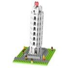 DIY Pisa Leaning Tower Building Blocks Assembly Model Toy - White