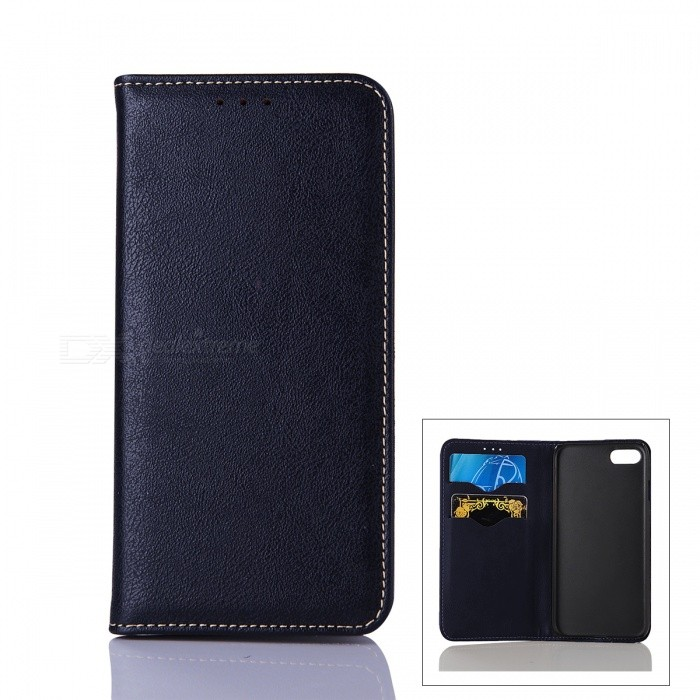 Flip Open Automatic Close Cow Split Leather Case w/ Stand for IPHONE 7Leather Cases<br>Form  ColorDeep BlueQuantity1 DX.PCM.Model.AttributeModel.UnitMaterialCow split leatherCompatible ModelsiPhone 7StyleFull Body Cases,Flip OpenDesignSolid Color,With Stand,Card SlotAuto Wake-up / SleepNoPacking List1 * Case<br>