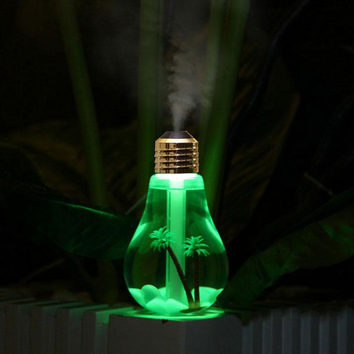 Buy 2W USB Powered Colorful Light Touch Humidifier - Gold + Transparent with Litecoins with Free Shipping on Gipsybee.com