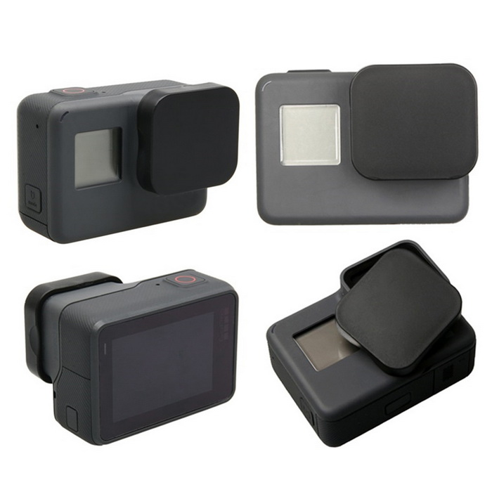 Protective Plastic Lens Cap Cover for GoPro Hero 5 - BlackLenses &amp; Lenses Accessories<br>Form  ColorBlackLens DiameterOthersQuantity1 DX.PCM.Model.AttributeModel.UnitMaterialPlasticShade Of ColorBlackCompatible ModelsOthers,GoPro Hero 5Packing List1 * Lens cover<br>