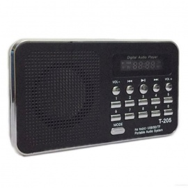T-205-TF-Card-Speaker-FM-Radio-MP3-Player-with-USB-Cable-Black