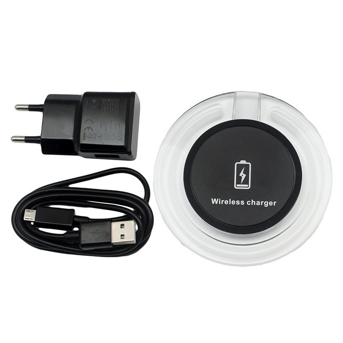 5V / 9V Qi Quick 2.0 Wireless Charger for Mobile Phones - BlackWireless Chargers<br>Form  ColorblackPower AdapterEUModelN/AQuantity1 DX.PCM.Model.AttributeModel.UnitMaterialABSExecutive StandardQiShade Of ColorBlackTypeOthers,Quick ChargerCompatible ModelsQiTransmition Distance7mmCharging Efficiency80Input Voltage100-240 DX.PCM.Model.AttributeModel.UnitOutput Current2 DX.PCM.Model.AttributeModel.UnitLED IndicatorYesPacking List1 * Wireless charger1 * EU plug charger1 * Charger cable<br>