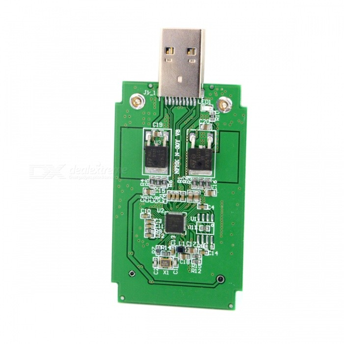 CY U3-294 Mini PCI-E MSATA to USB 3.0 External SSD PCBA Adapter Card