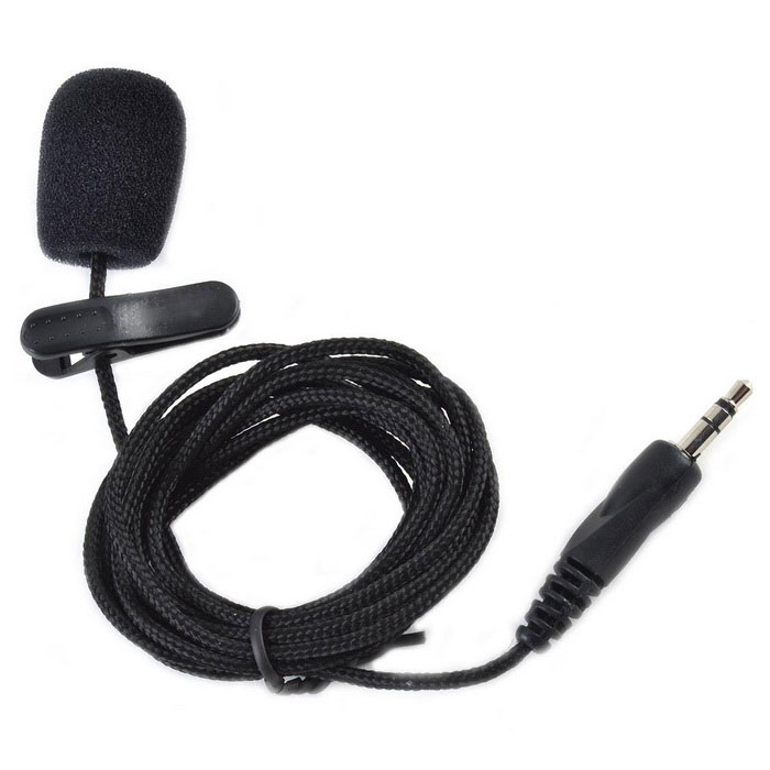 Buy Kitbon 3.5mm Clip-on Nylon Housing Microphone for Teaching - Black with Litecoins with Free Shipping on Gipsybee.com