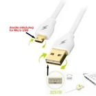 Micro USB Male to USB Male Quick Charging Data Cable - White (150cm)
