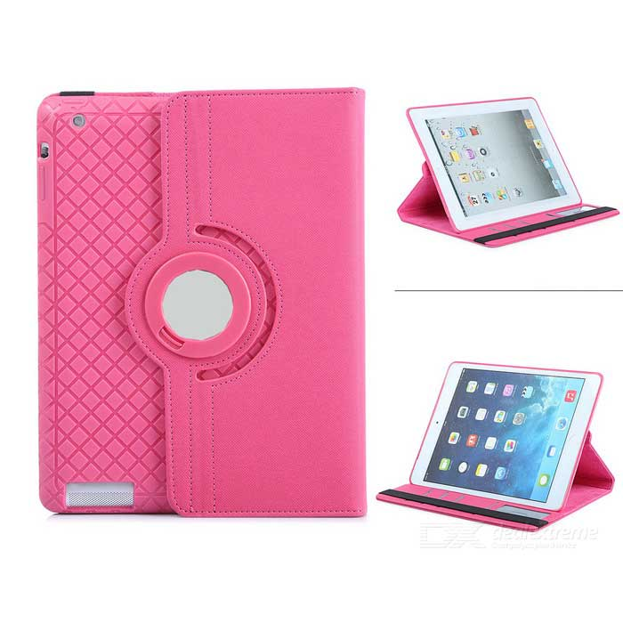 Rotating Detachable TPU Twill Soft Case Skin Cover for iPad 2/3/4
