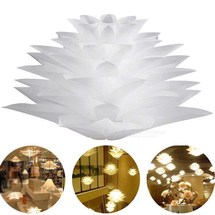 YouOKLight YK2224 Lotus Shaped Chandelier Ceiling Pendant LampshadeOther Accessories<br>ModelYK2224MaterialPlasitcForm  ColorWhiteQuantity1 DX.PCM.Model.AttributeModel.UnitPacking List1 * DIY Lotus Shaped Chandelier Ceiling Pendant Lampshade<br>