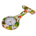 Insects Pattern Silicone Band Quartz Clip-on Watch - White + Green