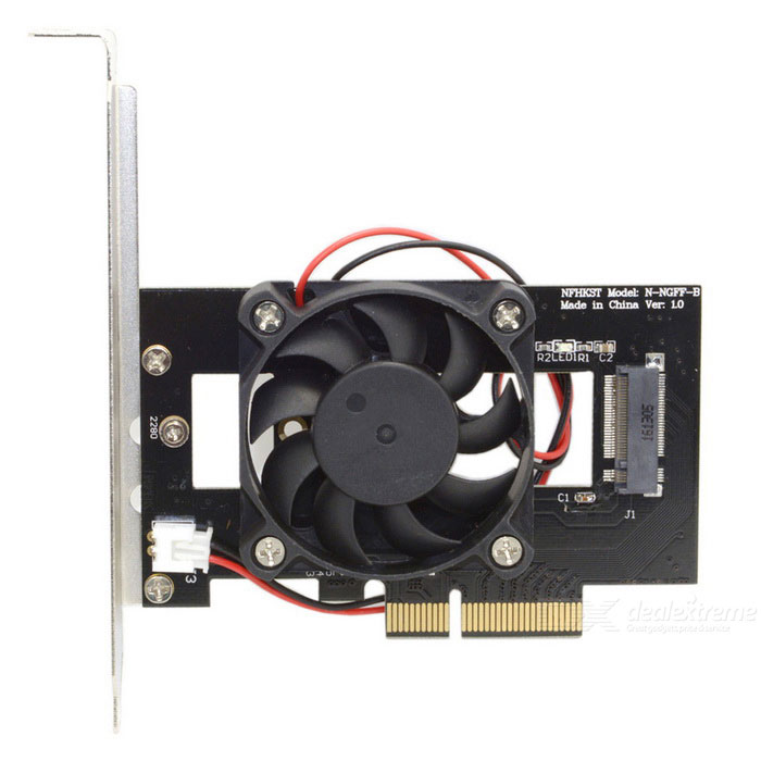 CY SA-207 PCI-E 3.0 x4 Lane Host Adapter Converter - Black + SilverComputer Cable&amp;Adapter<br>Form  ColorBlack + Silver + Multi-ColoredModelSA-207Quantity1 DX.PCM.Model.AttributeModel.UnitShade Of ColorBlackMaterialABSInterfaceOthers,N/APacking List1 * Adapter<br>
