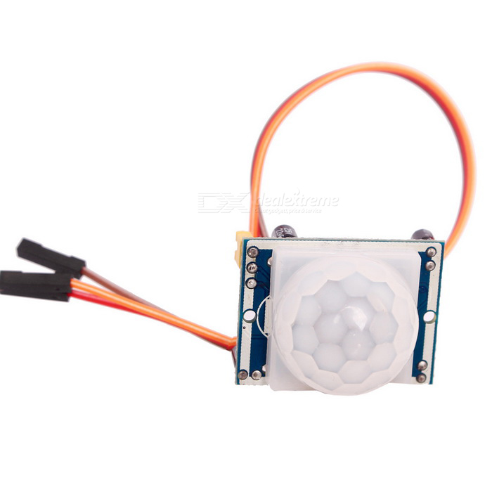 HC-SR501 Human Infrared Sensor Detector Module w/ 3-Pin Cable - BlueSensors<br>Form  ColorBlueModelHC-SR501Quantity1 setMaterialPCB + Electronic componentsApplicationHuman Body Infrared SensorWorking Voltage   DC 5V to 20 VWorking Current50 mAEnglish Manual / SpecYesDownload Link   http://pan.baidu.com/s/1bnkxeoRPacking List1 * Sensor Module1 * 3Pin Cable (20cm, random color)<br>