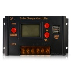 UES-2420 PWM Solar Charge Controller LCD Display 20A 12V 24V Auto Work