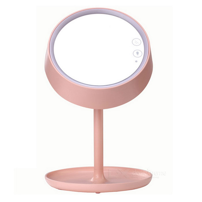 Buy LED Colorful Make-up Mirror Desktop / Bed Lamp - White with Litecoins with Free Shipping on Gipsybee.com