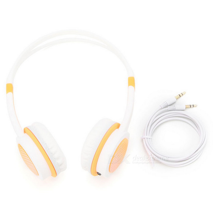 DM-2760 Colorful Headband Headset - Orange + WhiteHeadphones<br>Form  ColorOrange + WhiteBrandOthers,-ModelDM-2760MaterialABSQuantity1 DX.PCM.Model.AttributeModel.UnitShade Of ColorOrangeConnection3.5mm WiredBluetooth VersionNoConnects Two Phones SimultaneouslyNoCable Length120 DX.PCM.Model.AttributeModel.UnitHeadphone StyleHeadbandWaterproof LevelIPX0 (Not Protected)Applicable ProductsPS3,IPHONE 5,IPHONE 4,IPHONE 4S,IPHONE 3G,IPHONE 3GS,IPOD,Universal,Cellphone,MP3,PDA,MP4,Tablet PC,IPHONE 5S,IPHONE 5C,IPHONE 6,IPHONE 6 PLUS,IPHONE 6S,IPHONE 6S PLUS,IPHONE SEHeadphone FeaturesHiFi,English Voice Prompts,Noise-Canceling,Lightweight,Portable,Game Headset,For Sports &amp; ExerciseSupports MusicYesRadio TunerNoSupport Memory CardNoSupport Apt-XNoBattery TypeOthers,NoPower AdapterWithout Power AdapterPacking List1 * Headset1 * Cable<br>