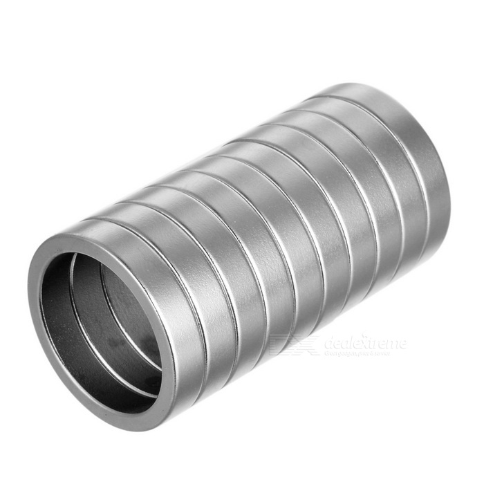 25 * 5mm Magic Trick Prop Magnetic Ring - Silver (10 PCS)Magnets Gadgets<br>Form  ColorSilverMaterialNdFeB(neodymium iron boron)Quantity1 DX.PCM.Model.AttributeModel.UnitNumber10Suitable Age 12-15 years,Grown upsOther FeaturesInner Diameter: 20mm<br>Thickness: 5mmPacking List10 * Magnet rings<br>