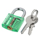 Mini Locksmith Tool Suit Set with Broken Key Remover - Green + Grey