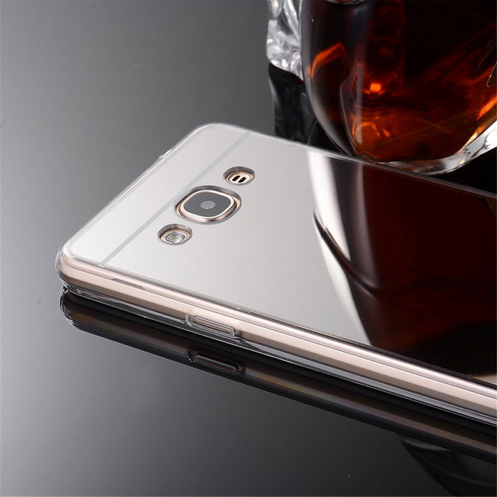 ... Protective TPU + PC Mirror Back Case Cover for Samsung Galaxy J3 Pro