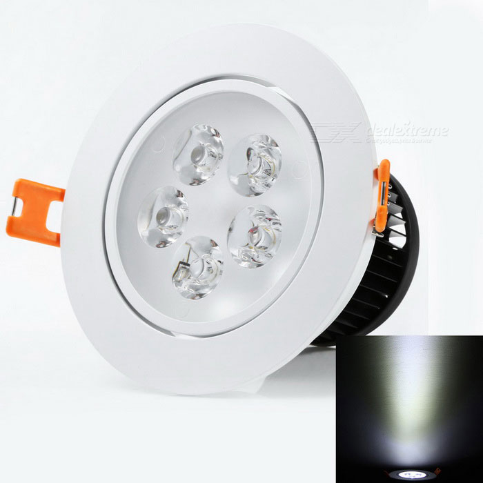 YouOKLight® 5W AC100-240V High Power 5-LED Cold White Ceiling LampCeiling Light<br>Form  ColorWhiteColor BINCool WhiteModelYK4439Quantity1 DX.PCM.Model.AttributeModel.UnitMaterialAluminumPower5WRated VoltageAC 100-240 DX.PCM.Model.AttributeModel.UnitEmitter TypeLEDTotal Emitters5Theoretical Lumens500 DX.PCM.Model.AttributeModel.UnitActual Lumens400 DX.PCM.Model.AttributeModel.UnitColor Temperature6000KDimmableNoBeam Angle60 DX.PCM.Model.AttributeModel.UnitExternal Diameter10.6 DX.PCM.Model.AttributeModel.UnitHole diameter9.5 DX.PCM.Model.AttributeModel.UnitHeight7 DX.PCM.Model.AttributeModel.UnitPacking List1 * LED bulb<br>
